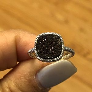Authentic Druzy Sterling Silver Ring